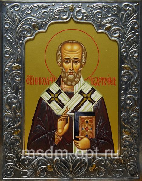 Николай чудотворец, архиепископ Мир Ликийских, святитель, икона (арт.00730)