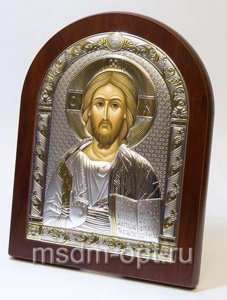Господь Вседержитель, серебряная икона