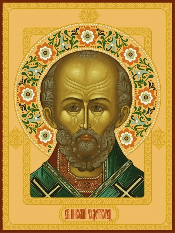 Николай чудотворец, архиепископ Мир Ликийских, святитель, икона (арт.726)