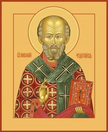 Николай чудотворец, архиепископ Мир Ликийских, святитель, икона (арт.728)