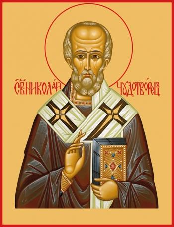 Николай чудотворец, архиепископ Мир Ликийских, святитель, икона (арт.730)