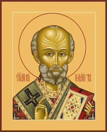 Николай чудотворец, архиепископ Мир Ликийских, святитель, икона (арт.734)