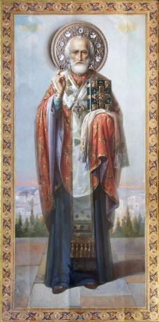 Николай чудотворец, архиепископ Мир Ликийских, святитель, икона (арт.752)