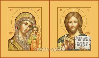 Венчальная пара икон Господь Вседержитель (арт.00110) и Божия Матерь Казанская (арт.00210)