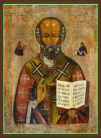 Николай чудотворец, архиепископ Мир Ликийских, святитель, икона (арт.06702)