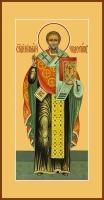 Николай чудотворец, архиепископ Мир Ликийских, святитель, икона  (арт.06734)