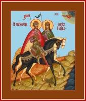 Борис и Глеб благоверные князья-страстотерпцы, икона (арт.06917)