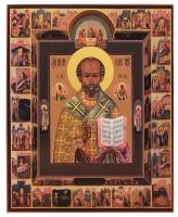 Николай чудотворец, архиепископ Мир Ликийских, святитель, икона (арт.00725)