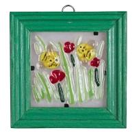 Картина в рамке «Пчелки в цветах» (арт.32989)