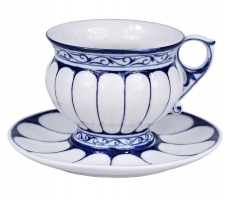 """Чайная пара синяя """"Царская""""  (арт.36242)"""