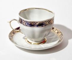 Чайная пара «Лазурная Волна» с декором «Архаика»  (арт.АС9)