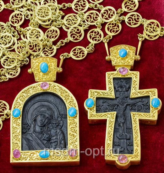 Крест и панагия. Двойник (арт.26135)
