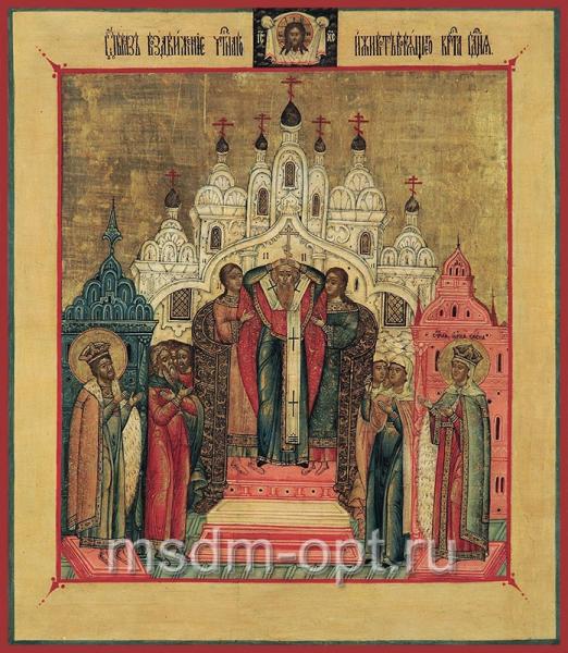 Воздвижение Честного и Животворящего Креста Господня, икона (арт.03308)