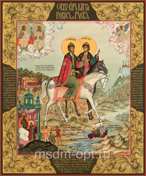 Благоверные князья Борис и Глеб, икона (арт.04455)