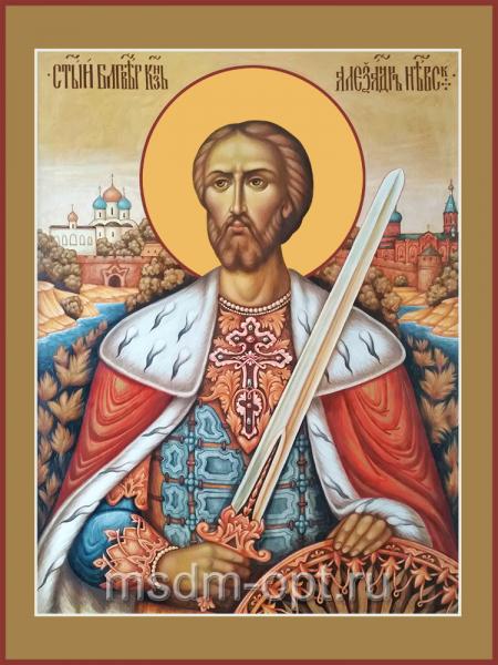 Александр Невский благоверный князь, икона (арт.04485)