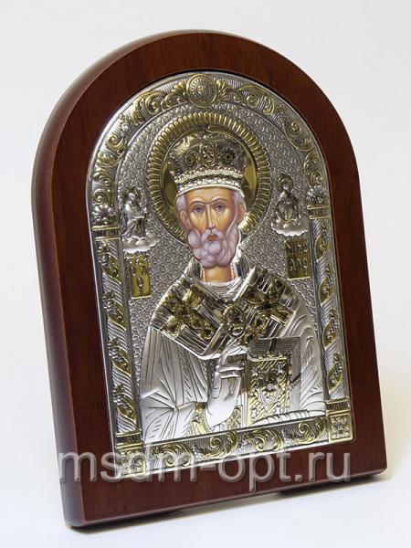 Николай чудотворец, архиепископ Мир Ликийских, святитель, серебряная икона