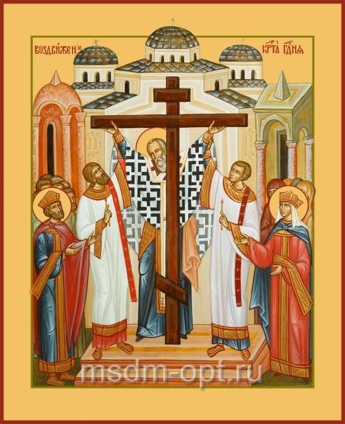 Воздвижение Честного и Животворящего Креста Господня, икона (арт.04611)