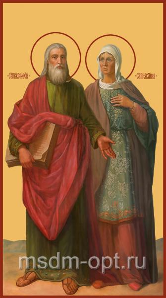Праведная пророчица Анна и праведный Симеон Богоприимец, икона (арт.04868)