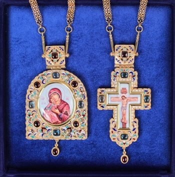 Крест и Панагия с цепью (арт.37511)