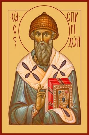 Спиридон Тримифунтский святитель, икона (арт.6703)