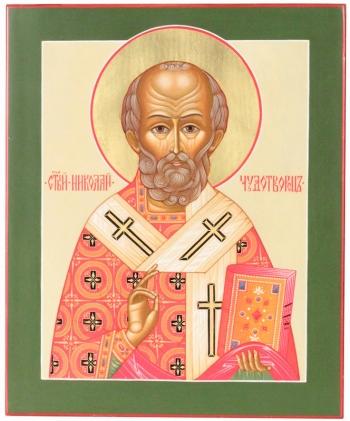 Николай чудотворец, архиепископ Мир Ликийских, святитель, икона (арт.21421)