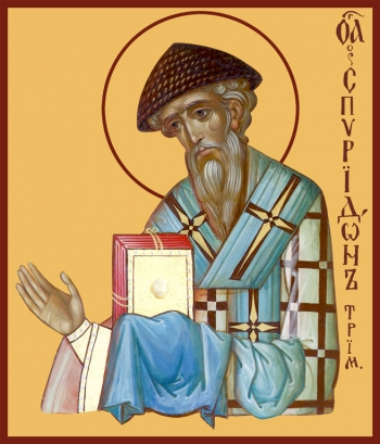 Спиридон Тримифунтский святитель, икона (арт.764)