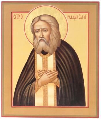 Серафим Саровский преподобный чудотворец, икона (арт.39562)