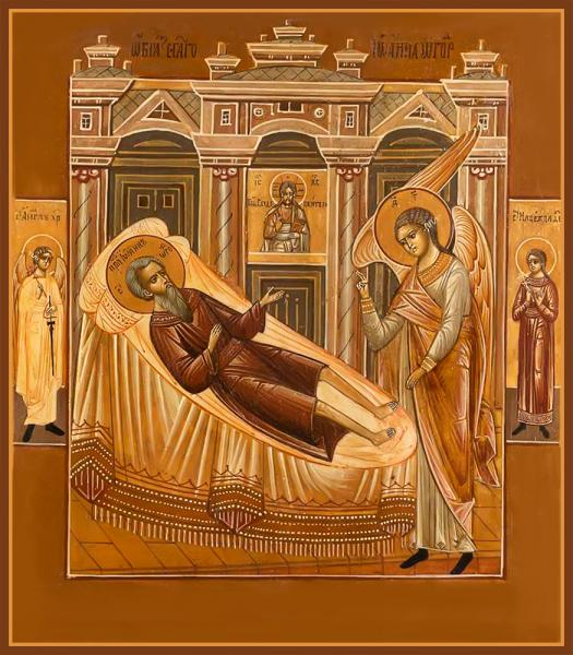 Праведный Иоанн Огородник, икона (арт.м0681)