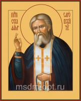 Серафим Саровский преподобный чудотворец, икона (арт.00058)