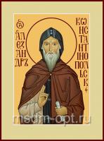Александр Константинопольский преподобный, икона (арт.00093)
