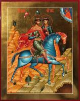 Борис и Глеб благоверные князья-страстотерпцы, писаная икона
