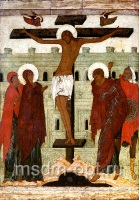 Распятие Господа нашего Иисуса Христа, икона (арт.03300)