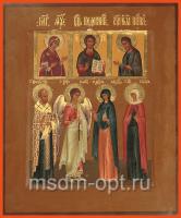 Николай святитель, Ангел Хранитель, Мария Магдалина равноапостольная, Калерия мученица, икона (арт.03469)