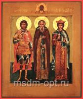 Никита великомученик, Михаил Малеин преподобный, Екатерина великомученица, икона (арт.03476)