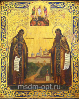 Сергий и Герман Валаамские Преподобные, икона (арт.03540)