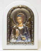 Ангел Хранитель, серебряная икона, цветная
