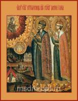 Борис и Глеб благоверные князья-страстотерпцы, икона (арт.04405)