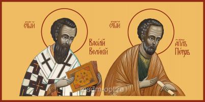 Святой Апостол Петр и Святитель Василий Великий, икона (арт.04467)