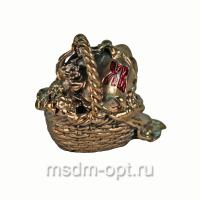 Фигурка пасхальная «Яйцо в корзинке» (арт.22217)