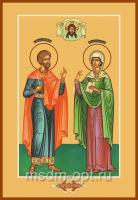 Адриан и Наталия мученики, икона (арт.04571)