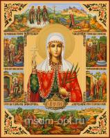 Валентина Кесарийская (Палестинская), Мученица, дева, икона (арт.04572)