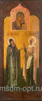 Макарий Великий Египетский преподобный и Параскева Пятница мученица, икона (арт.04644)