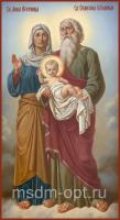 Праведная пророчица Анна и праведный Симеон Богоприимец, икона (арт.04866)