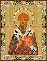 Спиридон Тримифунтский святитель, чеканная икона (арт.55704)