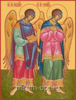 Иегудиил и Селафиил архангелы, икона (арт.06173)