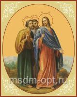Христос и апостолы на пути в Эммаус, икона (арт.00621)