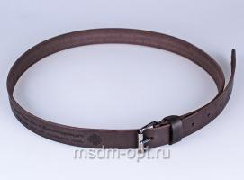 01512 Пояс ремень  кожаный, однослойный, гладкий, малый. Ширина 25 мм (арт.МП15) коричневый