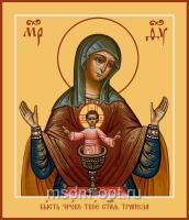 Бысть Чрево Твое Святая Трапеза икона Божией Матери (арт.06310)