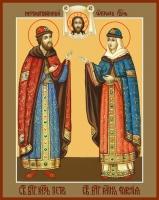 Петр и Феврония благверные кнн., икона (арт.06447)