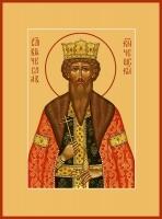 Вячеслав Чешский благоверный князь, икона 240 х 300 мм, ковчег (арт.97-06585)